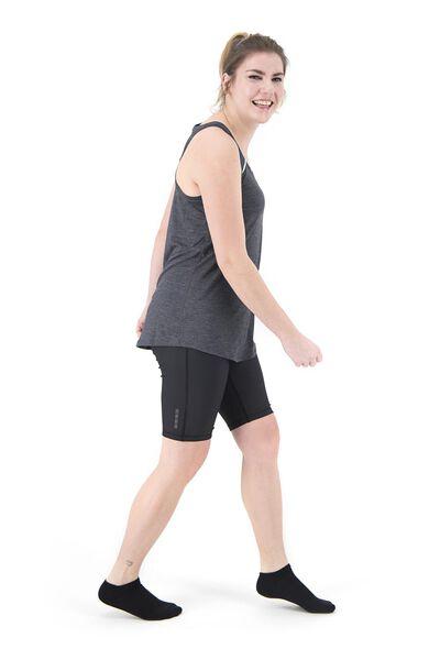 dames sportsinglet loose fit grijsmelange grijsmelange - 1000018824 - HEMA