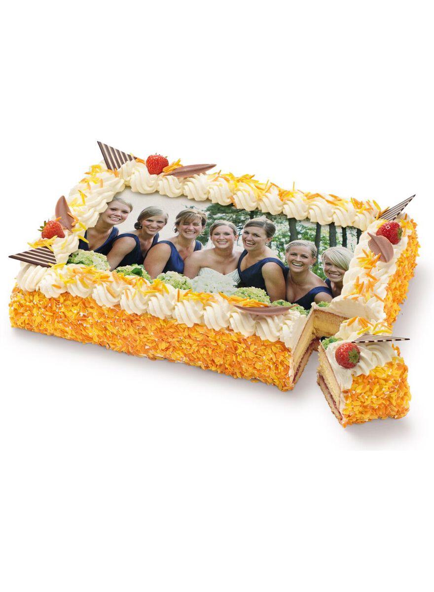 hema taart bestellen telefonisch maxi fototaart met gekleurde druppels en decoratie 30 p.   HEMA hema taart bestellen telefonisch