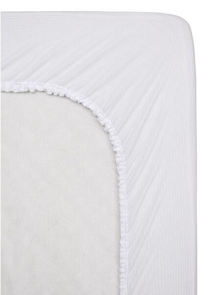 molton hoeslaken - stretch - 140 x 200 cm wit 140 x 200 - 5140070 - HEMA