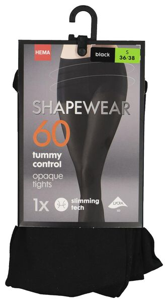 panty tummy control 60 denier zwart 40/42 - 4070262 - HEMA