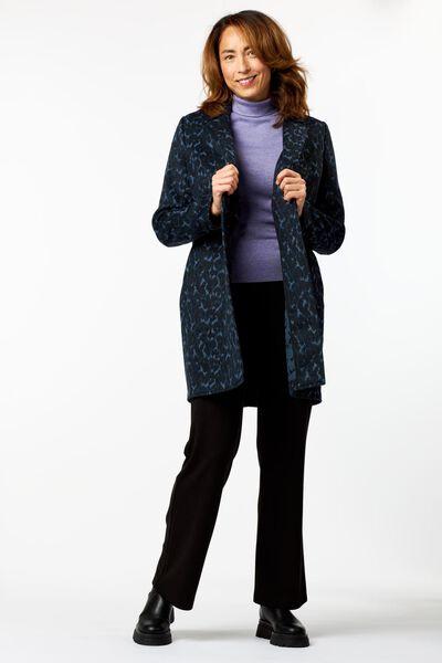 damesjas met wol donkerblauw L - 36213923 - HEMA