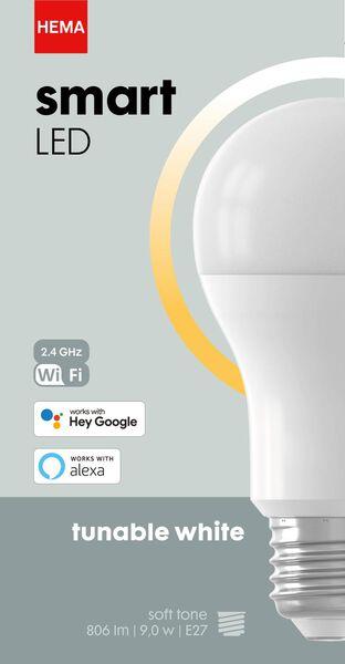 smart LED lamp peer E27 - 9W - 806 lm - wit - 20000029 - HEMA