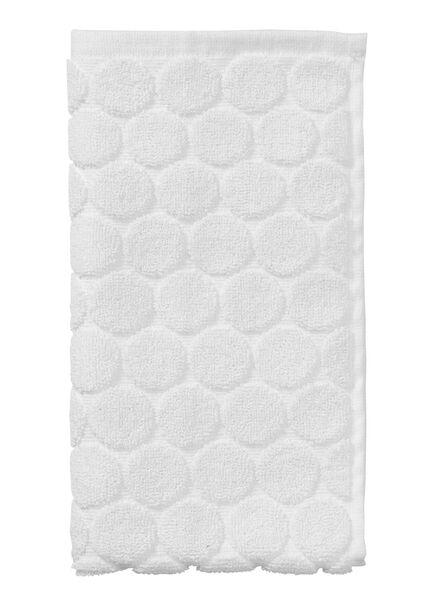 gastendoek - 30 x 55 cm cm - zware kwaliteit - wit stip wit gastendoekje - 5200054 - HEMA