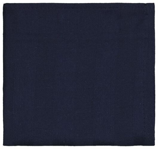 theedoek 65x65 katoen donkerblauw - 5410126 - HEMA