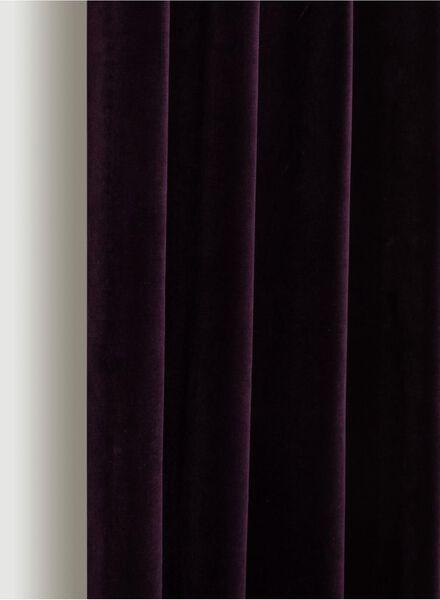 gordijnstof velours paars paars - 1000016087 - HEMA
