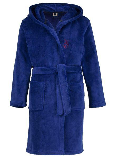 kinderbadjas donkerblauw donkerblauw - 1000014377 - HEMA