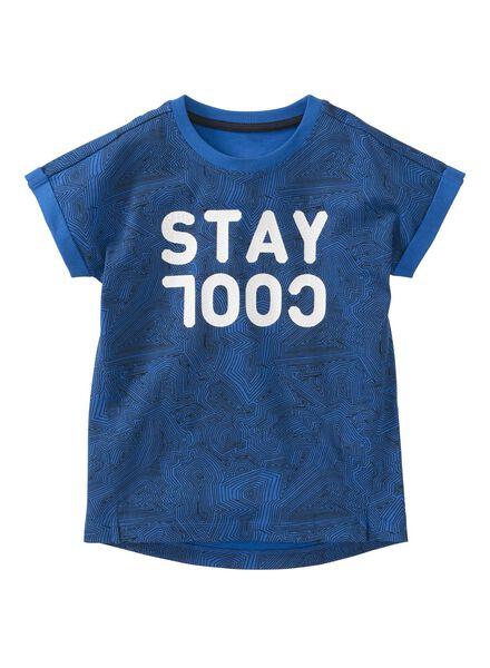 kinder t-shirt felblauw felblauw - 1000003712 - HEMA