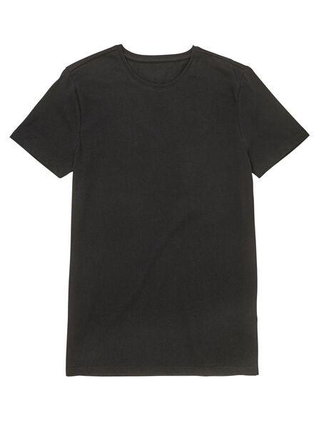2-pak heren t-shirts zwart zwart - 1000009970 - HEMA