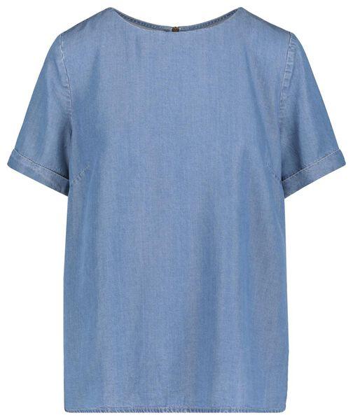 dames top middenblauw - 1000019413 - HEMA