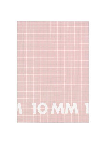 schriften A4 - geruit 10 mm - 3 stuks - 14101616 - HEMA