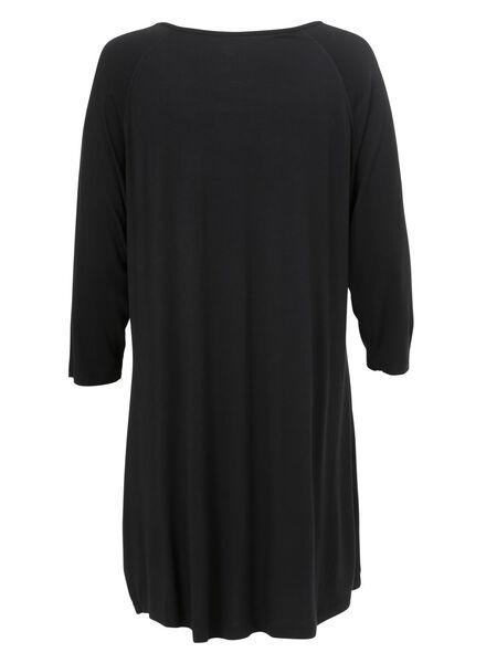 dames nachthemd zwart zwart - 1000002916 - HEMA