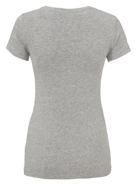 dames t-shirt biologisch katoen grijsmelange grijsmelange - 1000005649 - HEMA