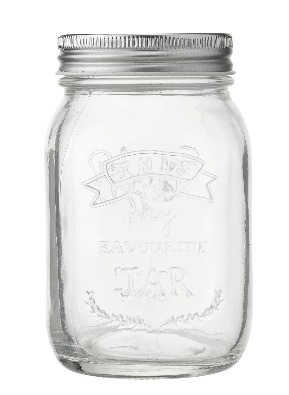 HEMA Glazen Pot 0.5L (transparant)