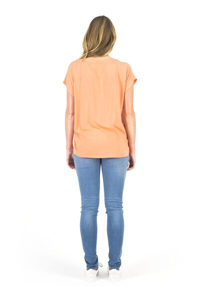 dames t-shirt koraalroze koraalroze - 1000018445 - HEMA