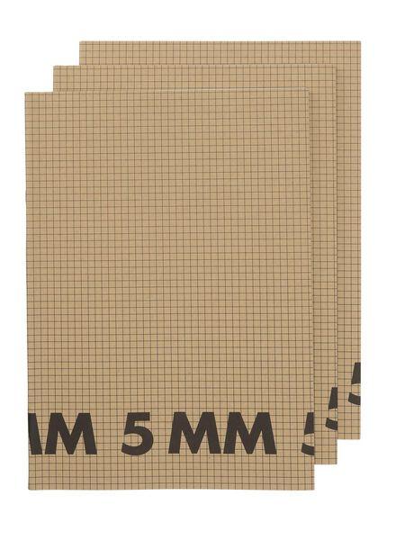 3-pak schriften A4 geruit 5 mm - 14170055 - HEMA