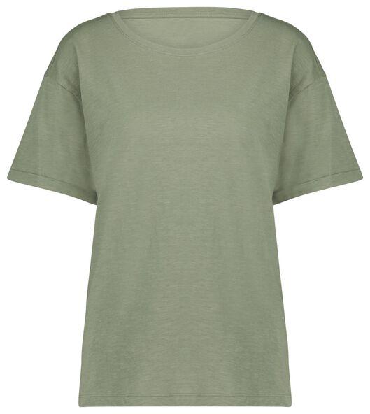 dames t-shirt lichtgroen lichtgroen - 1000023917 - HEMA