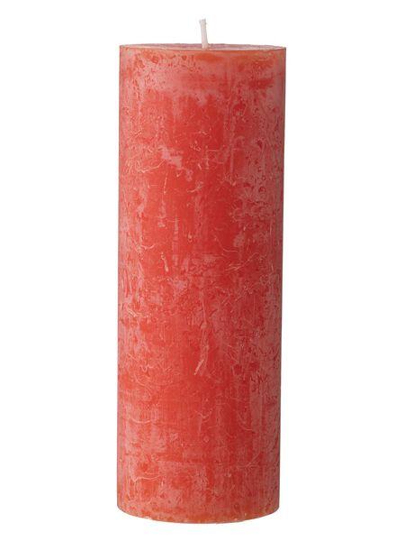 rustieke kaarsen rood rood - 1000015377 - HEMA