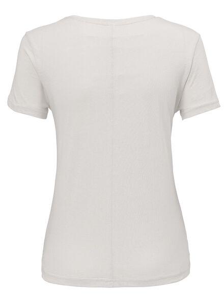 dames t-shirt gebroken wit - 1000007726 - HEMA