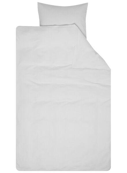 dekbedovertrek - zacht katoen - structuur wit wit - 1000016610 - HEMA