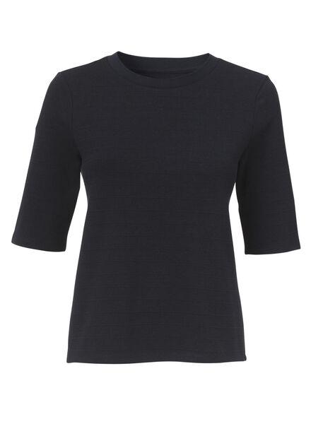 dames t-shirt donkerblauw donkerblauw - 1000009730 - HEMA