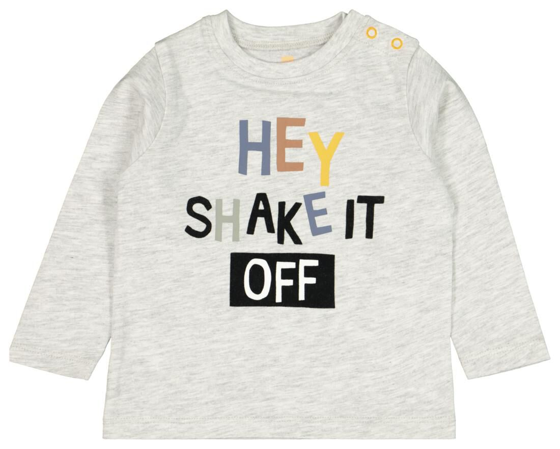 HEMA Baby T-shirt Hey Grijs (grijs)