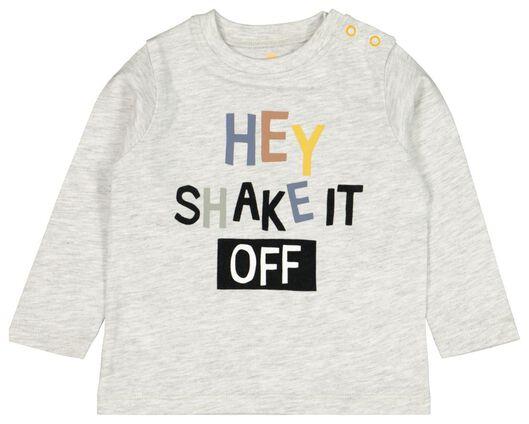 baby t-shirt hey grijs - 1000022154 - HEMA