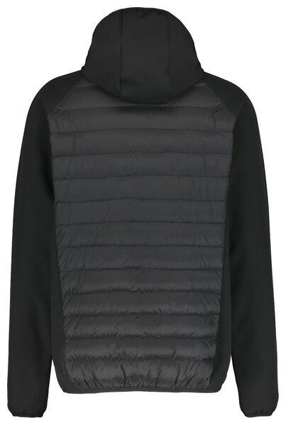 herenjack gewatteerd met capuchon zwart zwart - 1000020764 - HEMA