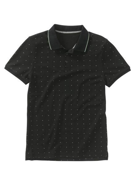 herenpolo zwart zwart - 1000009023 - HEMA