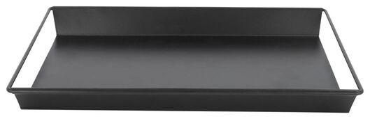 kaarsplateau - 31.5 x 22 x 3 - zwart metaal - 13321019 - HEMA