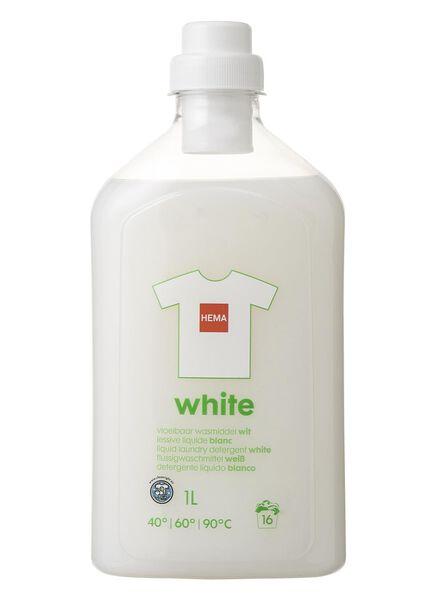 vloeibaar wasmiddel wit 1L - 20500021 - HEMA