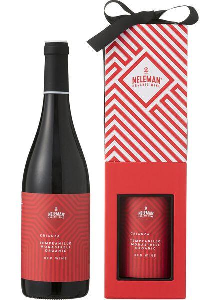 Neleman geschenkverpakking biologisch - rood - 17360131 - HEMA
