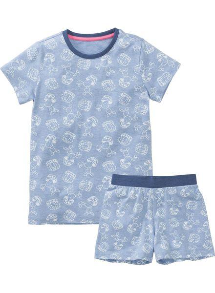 meisjes pyjama middenblauw 158/164 - 23071346 - HEMA