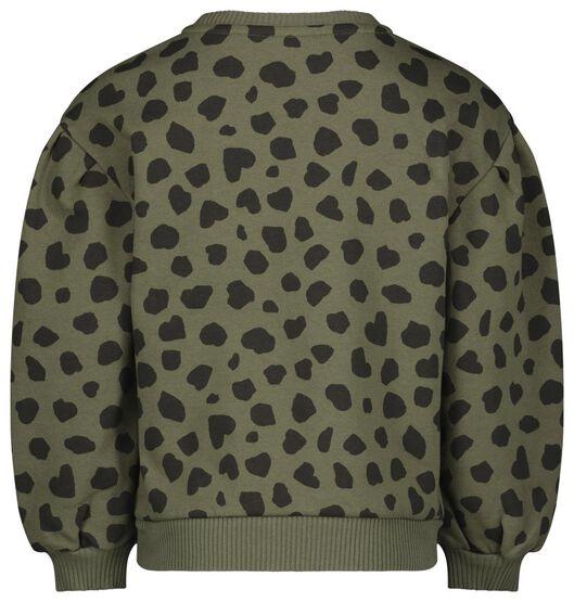 kindersweater ballonmouwen legergroen 134/140 - 30842648 - HEMA
