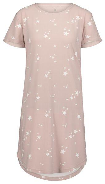 damesnachthemd micro roze roze - 1000020327 - HEMA