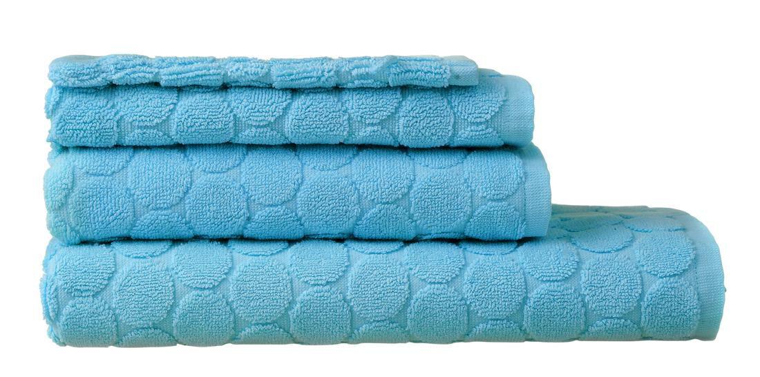 HEMA Handdoeken - Zware Kwaliteit - Stip Aqua (aqua)