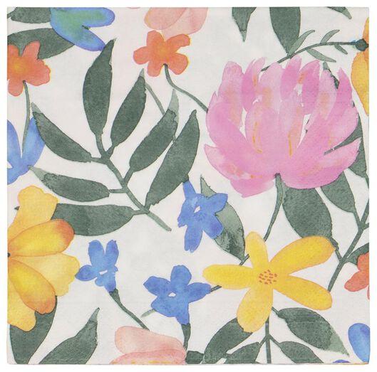 servetten 33x33 papier bloemen - 20 stuks - 14200440 - HEMA