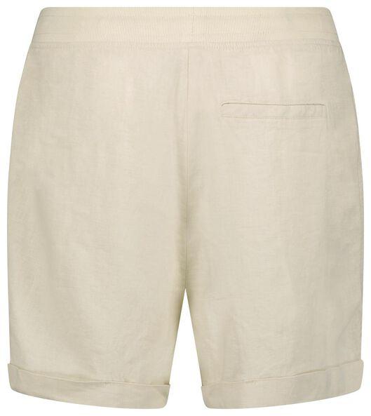 dames short met linnen gebroken wit gebroken wit - 1000024269 - HEMA