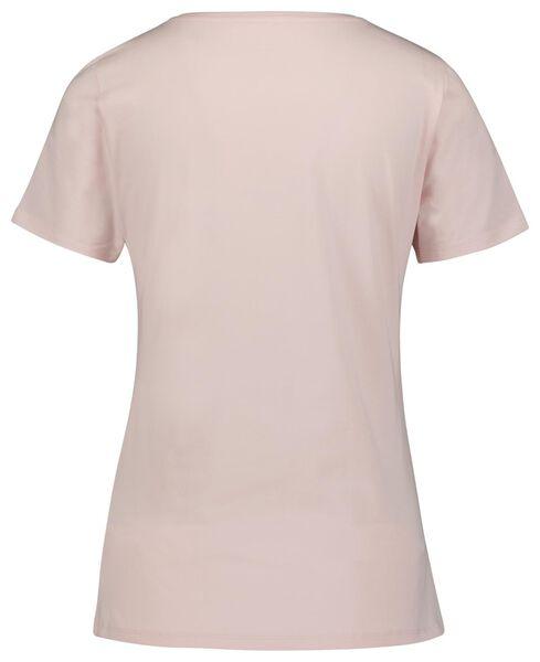 dames basic t-shirt lichtroze L - 36334083 - HEMA