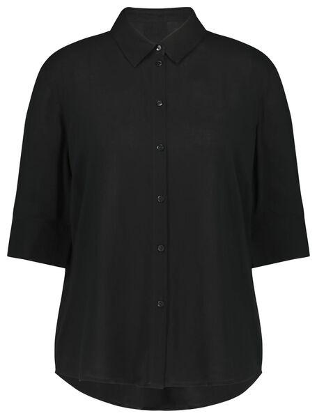damesblouse zwart zwart - 1000023079 - HEMA