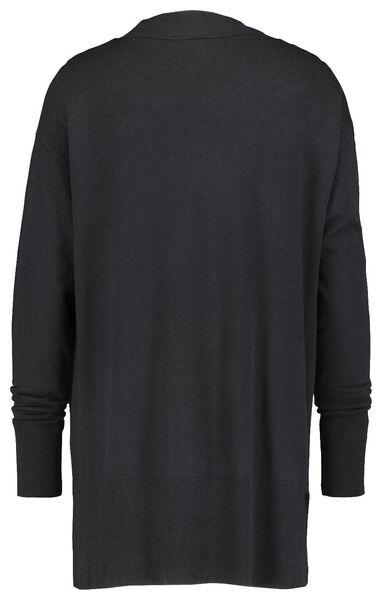 damesvest fijngebreid zwart zwart - 1000018284 - HEMA