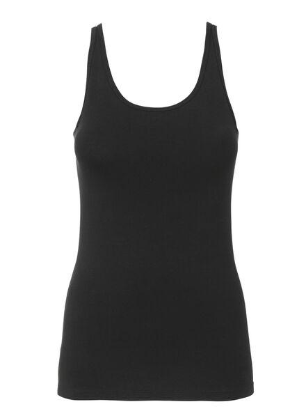 dameshemd katoen zwart XL - 19681005 - HEMA