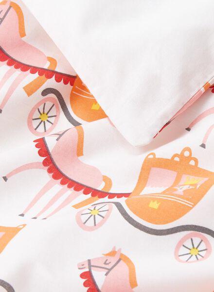 peuterdekbedovertrek - zacht katoen - 120 x 150 cm - wit prinses - 5750100 - HEMA
