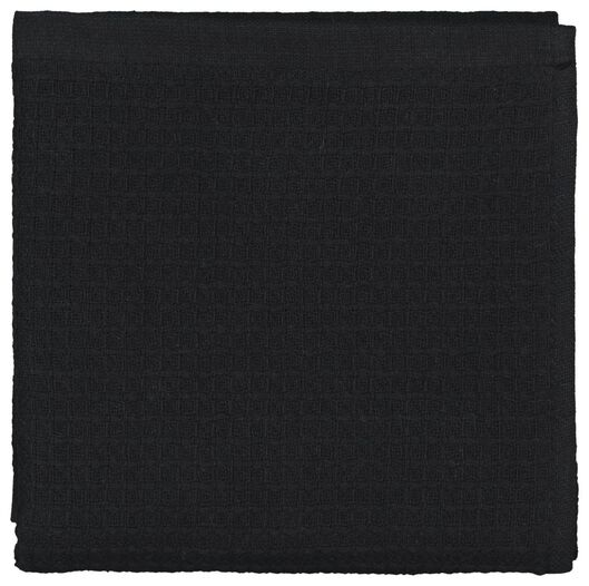 keukendoek - 50 x 50 - katoen wafel zwart - 5490039 - HEMA