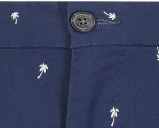 herenshort chino - regular fit blauw 36 - 34299683 - HEMA