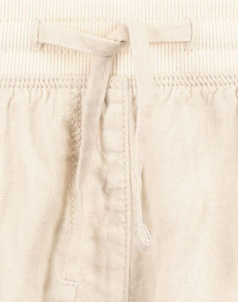 damesshort linnen beige L - 36289122 - HEMA