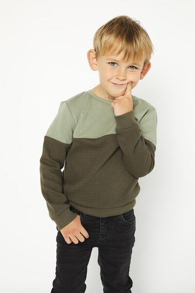 kindersweater groen groen - 1000020839 - HEMA