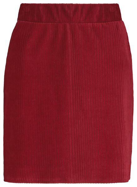 damesrok corduroy rib rood rood - 1000022043 - HEMA