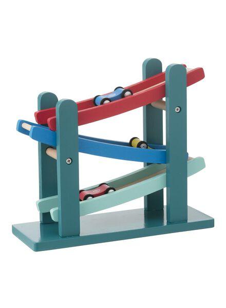 houten rollerbaan 25 cm met autootjes - 15122227 - HEMA