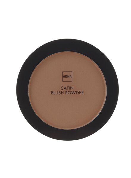 satin blush powder brutal brown - 11294706 - HEMA