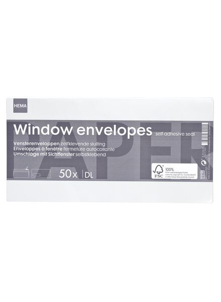 50-pak enveloppen DL FSC Mix 7 - 14110322 - HEMA